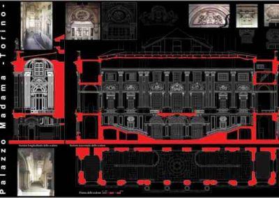 Rilievo Scalone – Palazzo Madama – Torino