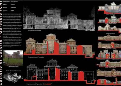Rilievo laser scanner – Castello di Casotto – Monasterolo Casotto